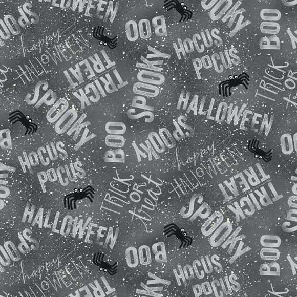 Wilmington Prints Spooky Vibes Gray