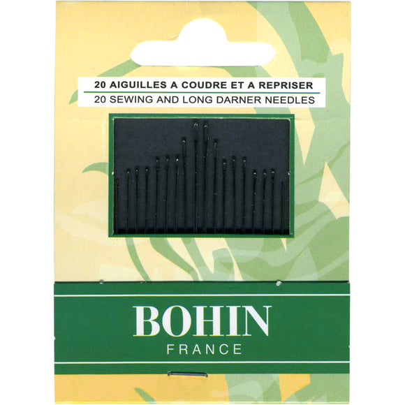 Bohin 20 Sewing and Long Darner Needles