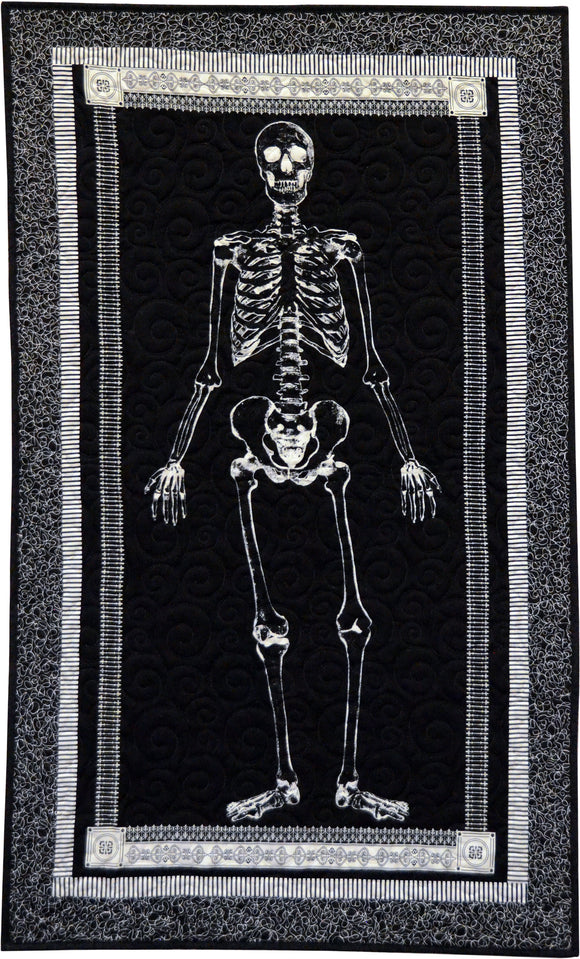 Glow-in-the-Dark Skeleton Panel Quilt Kit