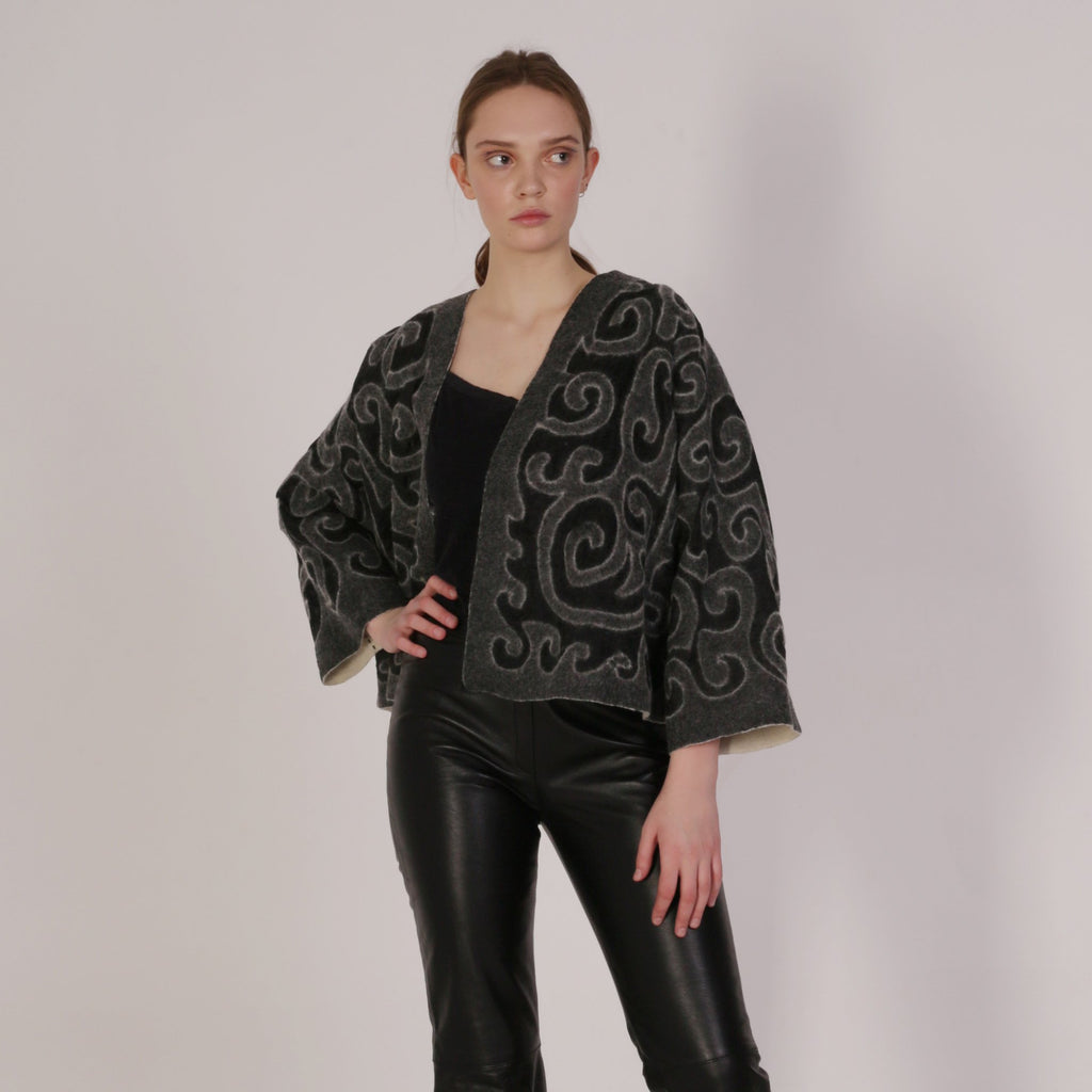 Black Haute Artisan Tribal Jacket