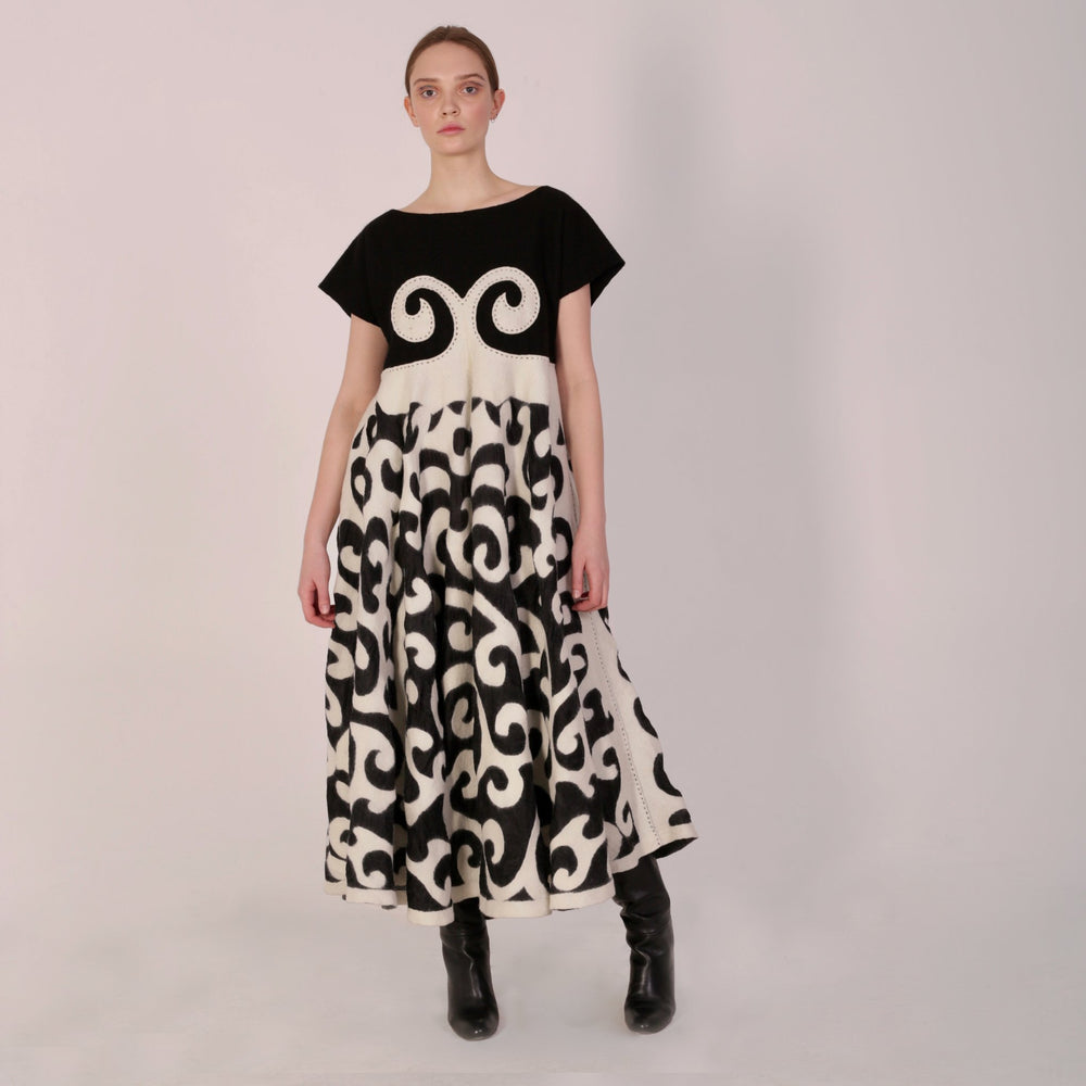Haute Artisan Tribal Dress Aichurek