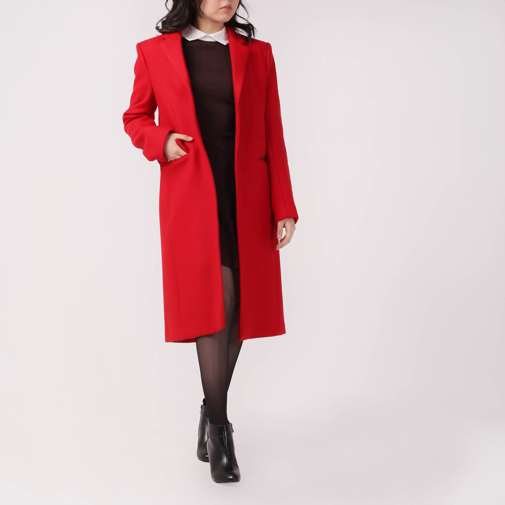 Longline Double-breasted Coat - IZZZO Marketplace