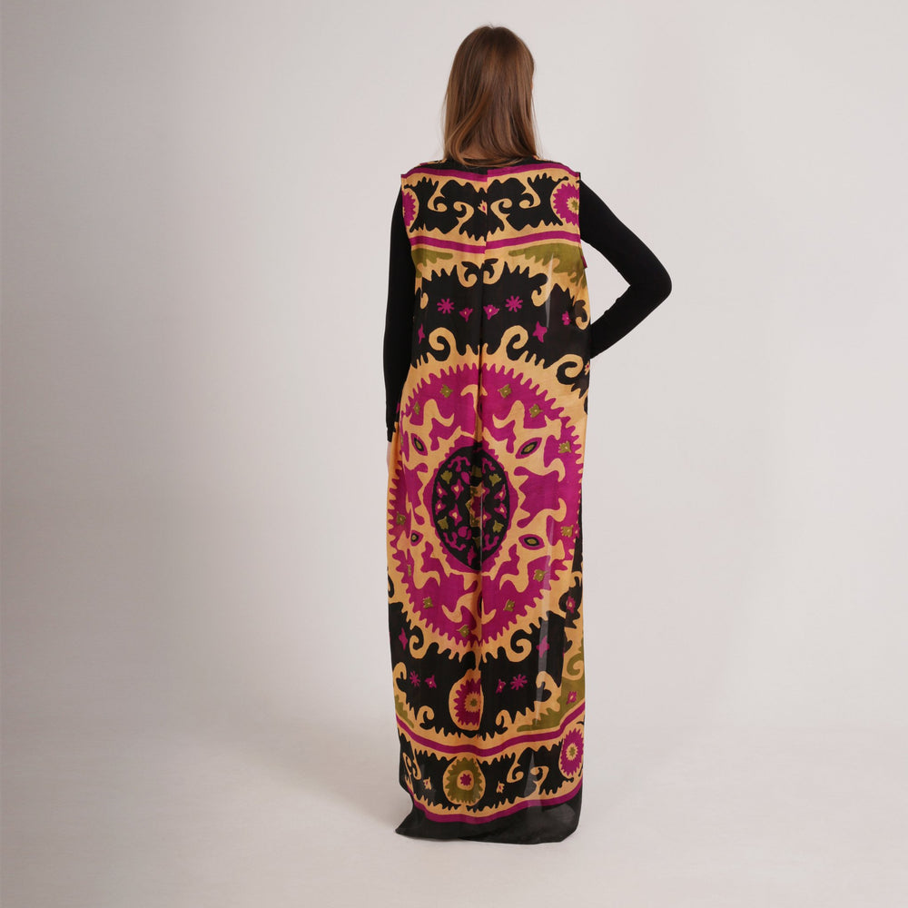 Tribal Silk Maxi Cardigan