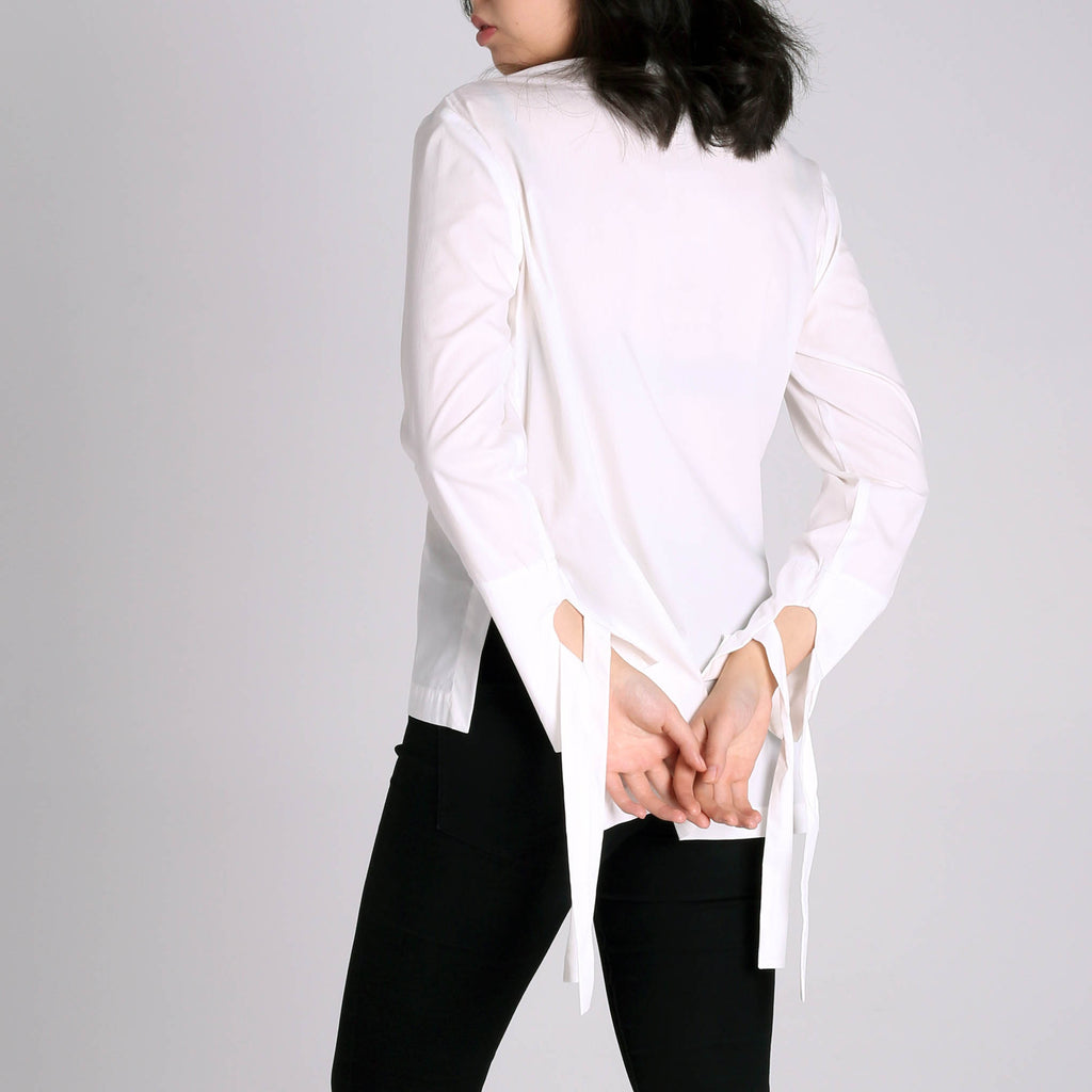 Kintsugi White Shirt with Knot - IZZZO Marketplace