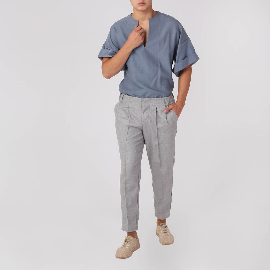 Men's Pleated Trousers - izzzo
