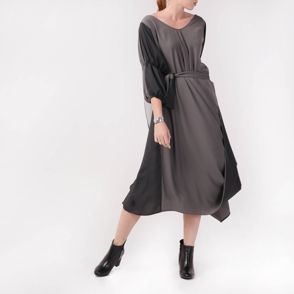 Silk Asymmetric Dress - izzzo