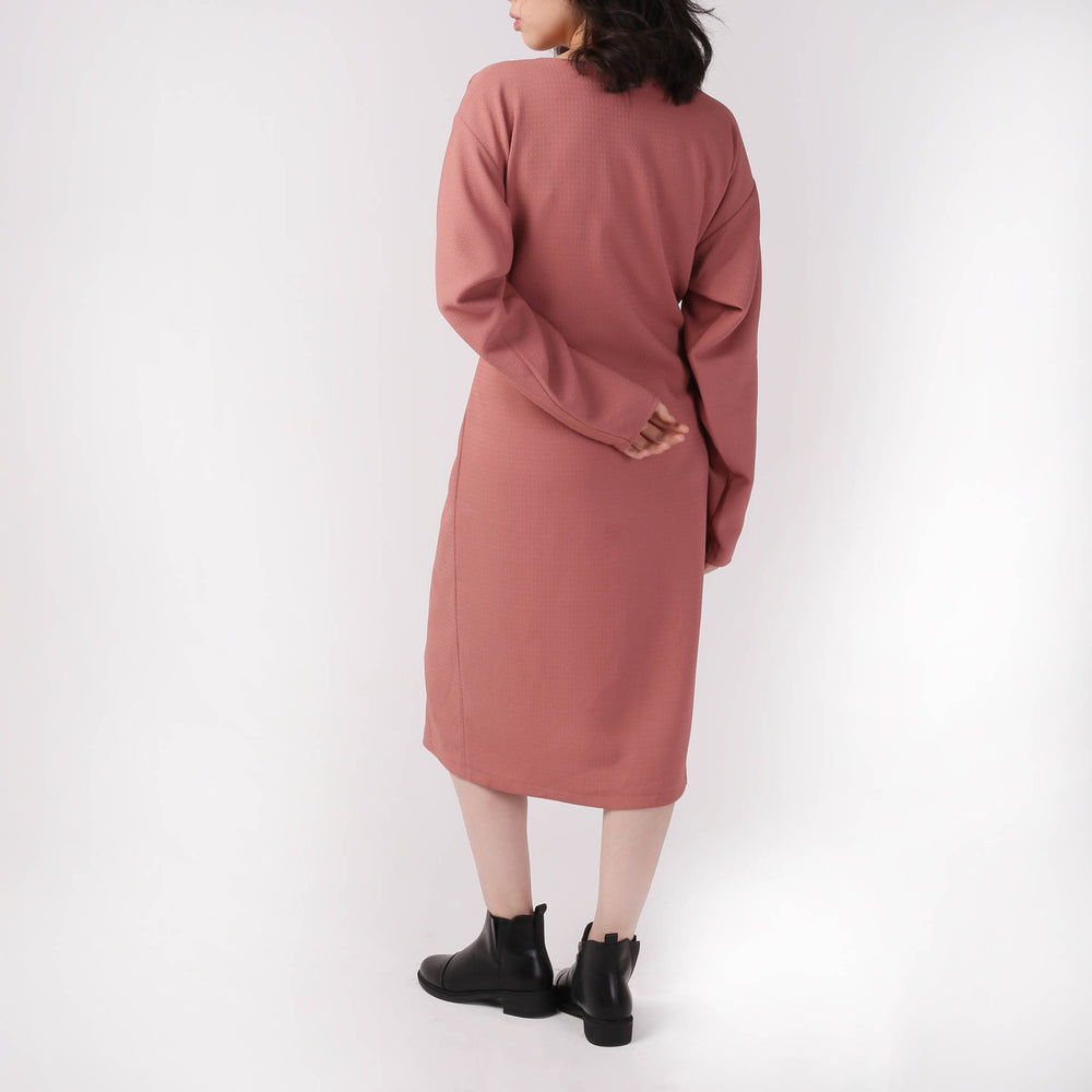 Oversize Wrap-tie Dress - izzzo