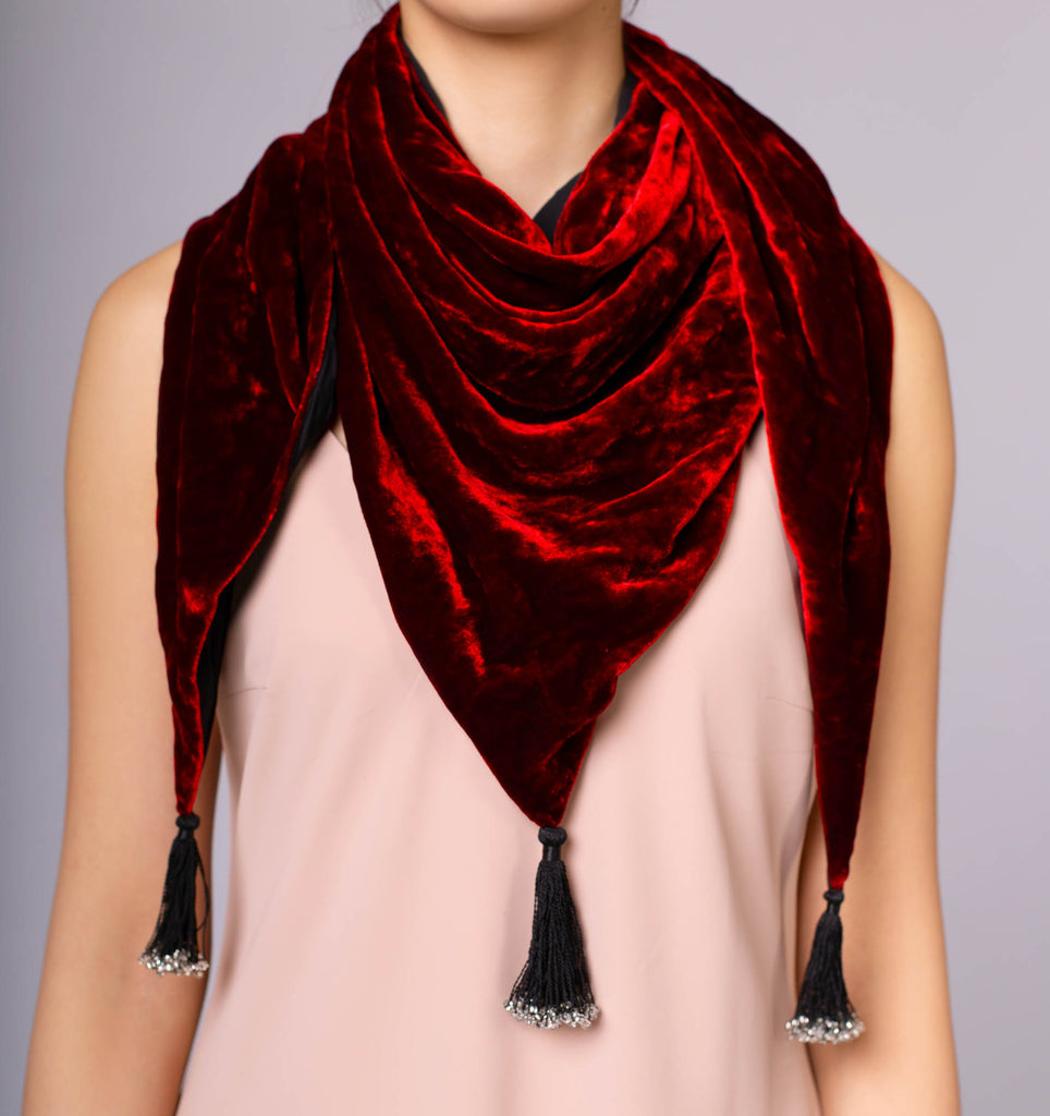 South Tribes Silk Velvet Scarf - IZZZO Marketplace