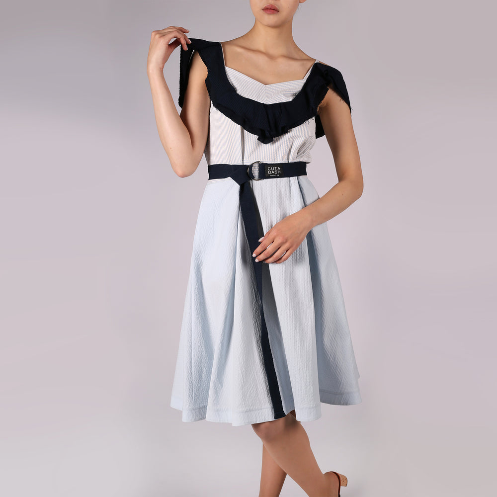 Azure dress with frill - IZZZO Marketplace