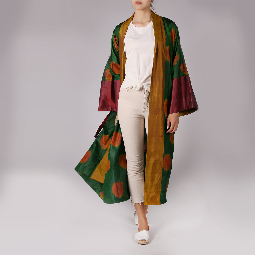 Silk Duster Coat - IZZZO Marketplace