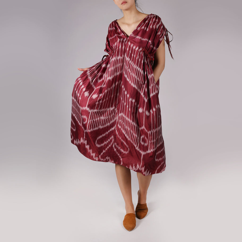 Venera Ikat Silk Dress - IZZZO Marketplace