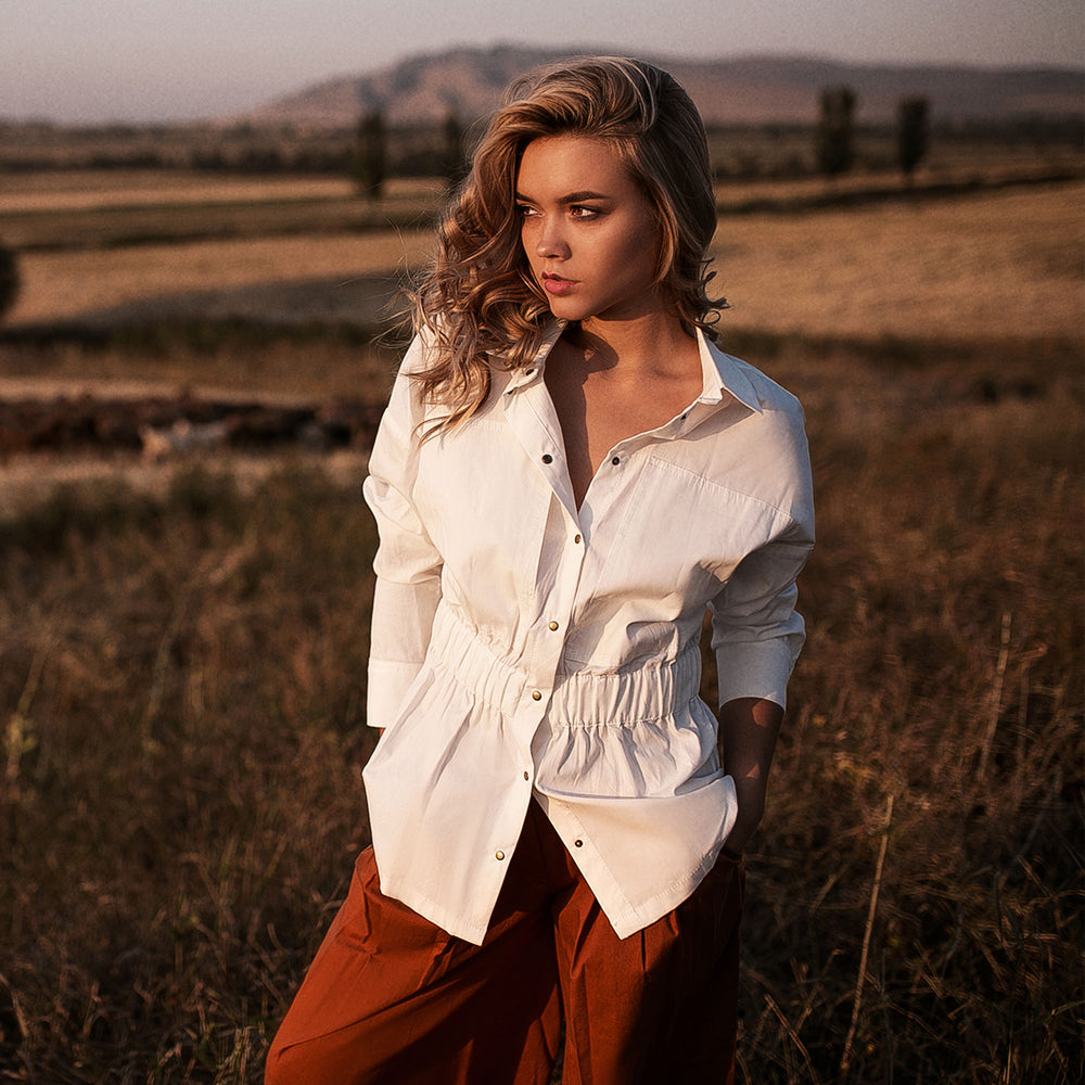 White Safari Shirt - IZZZO Marketplace