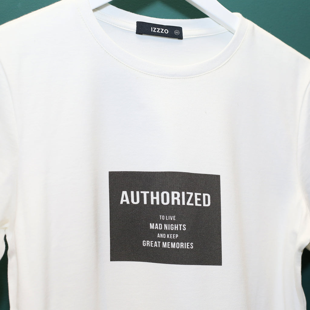 T-shirt AUTHORIZED - IZZZO Marketplace