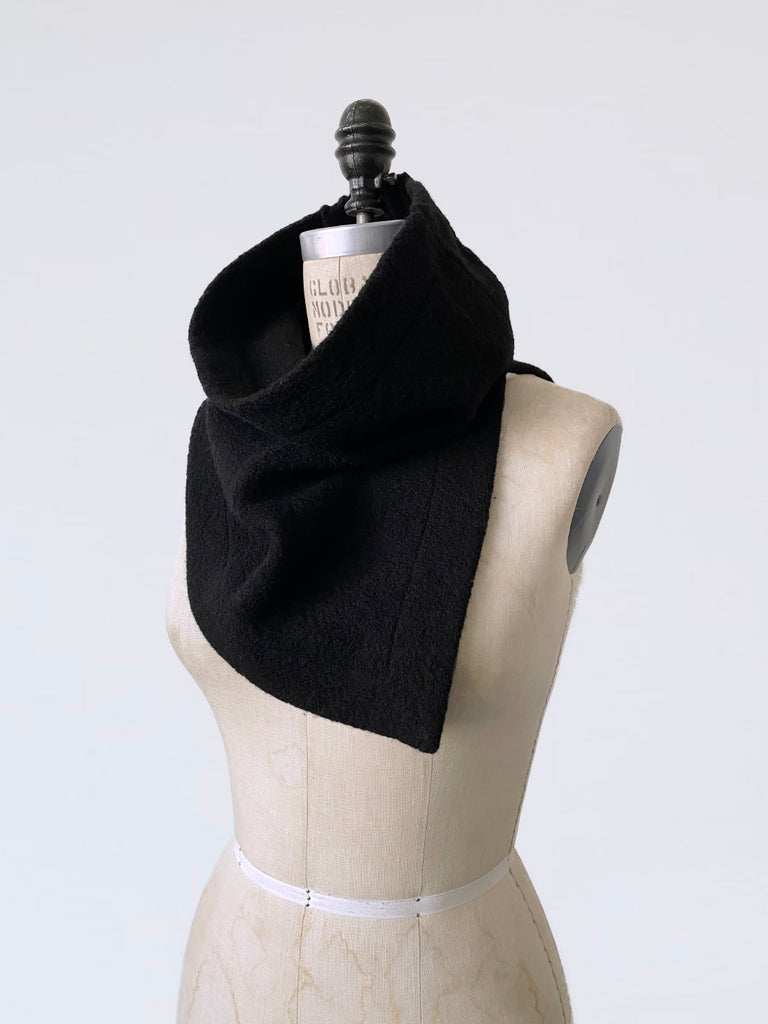 Boiled Wool Neck Warmer Scarf
