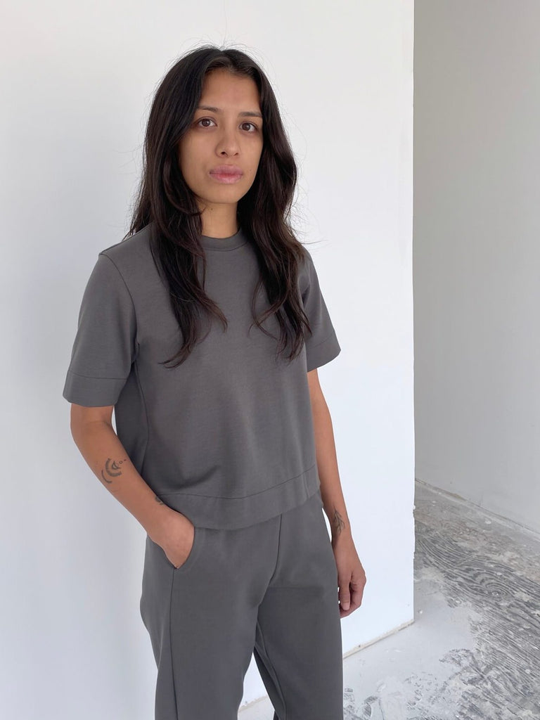 Structured Tee - Mid Grey