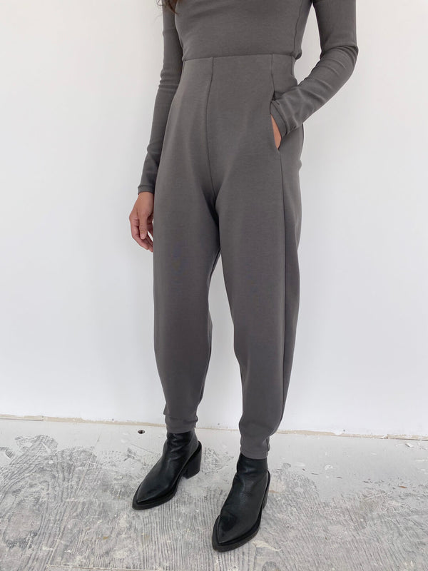 Structured Slacks - Grey