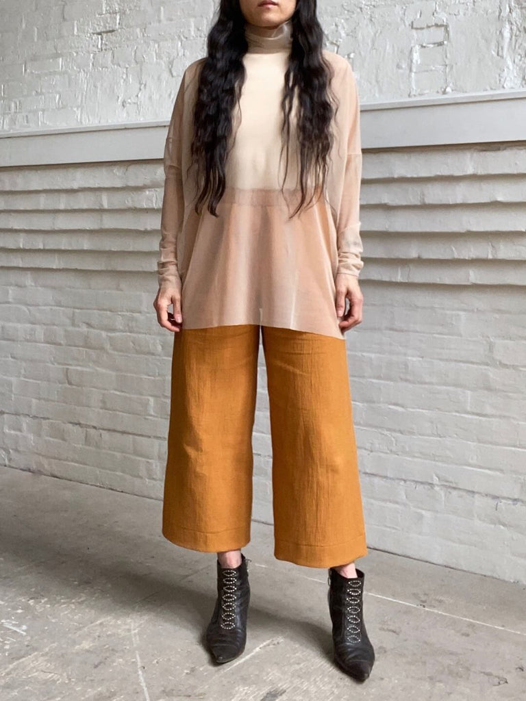 Structured Wide Leg Pant - Gold Medal