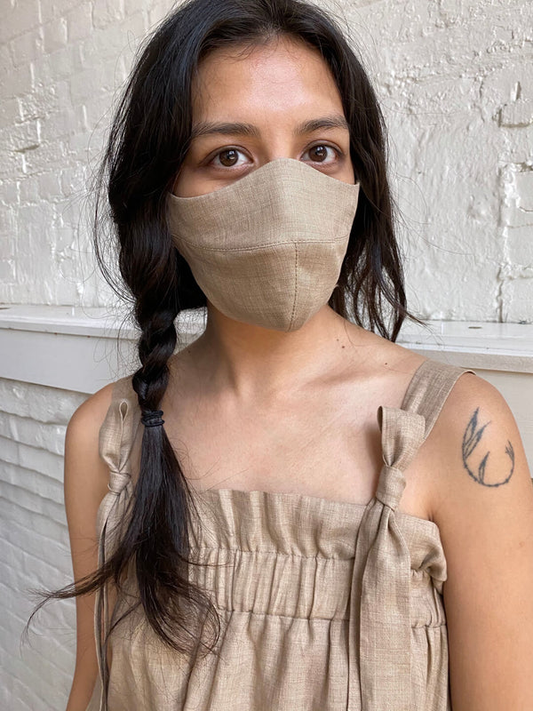Linen Face Mask - Hazel