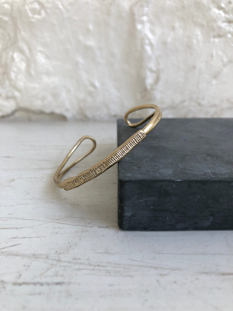 Brass Textured Cuff