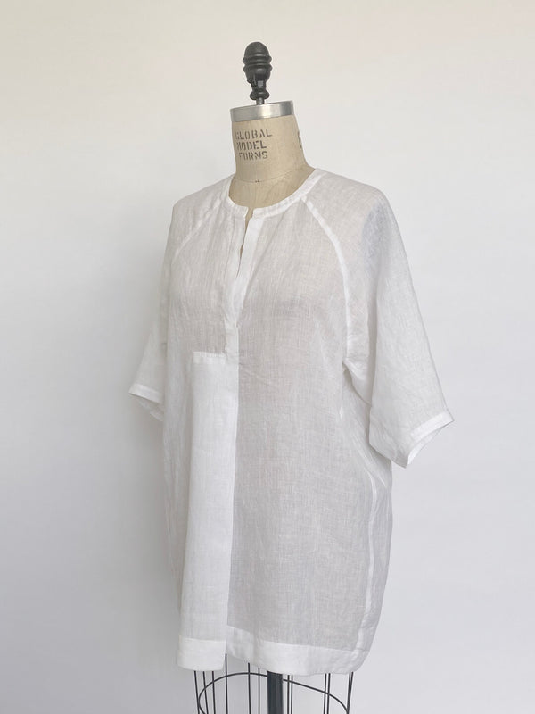 Belgian Linen Tunic - White Rabbit