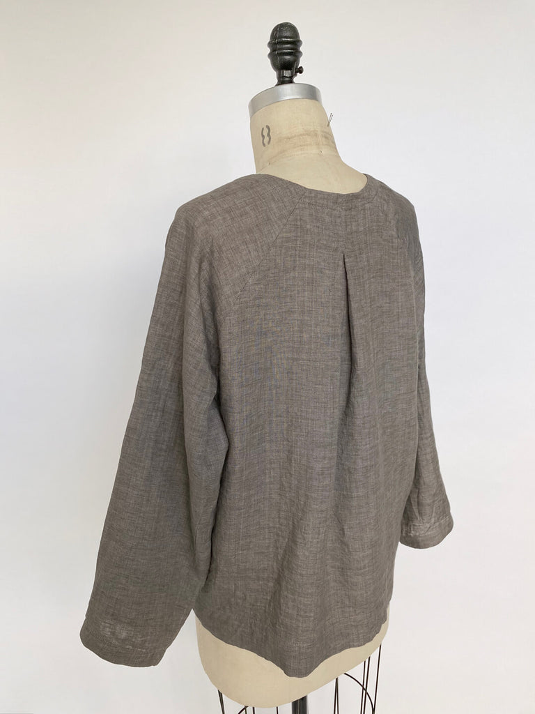 Pleated Tunic - Charcoal