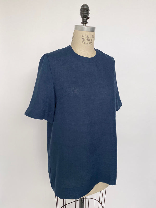Linen Tailored Tee - Small