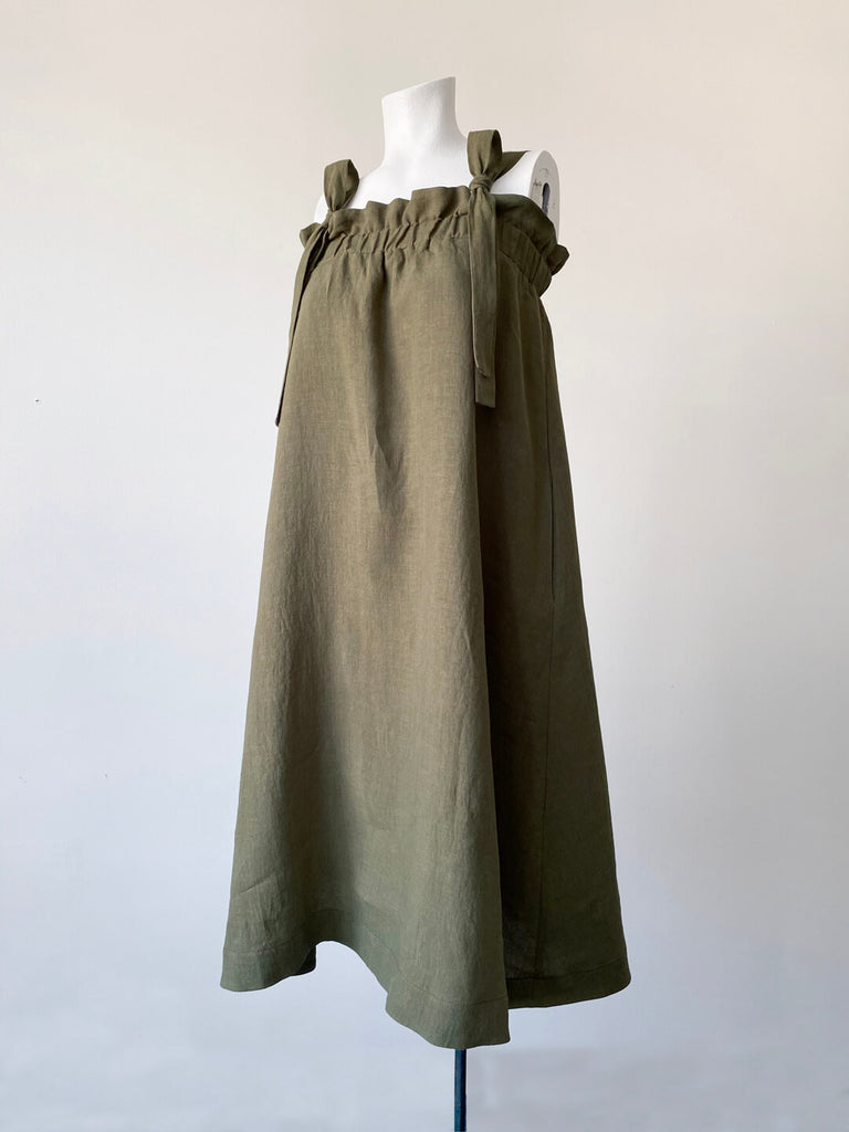 Linen Sundress - Sage