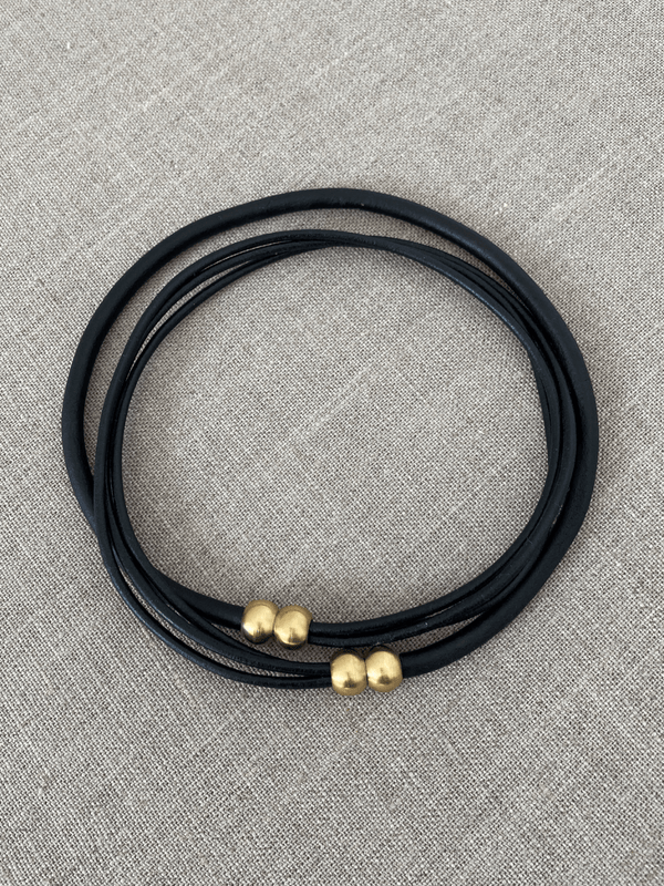 Intermix Strand Necklace in All Black