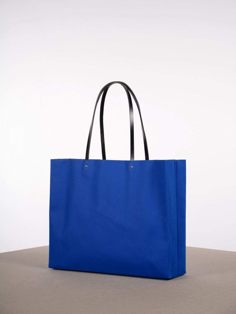 Paper Market Shopper Tote - Electric Blue/Black