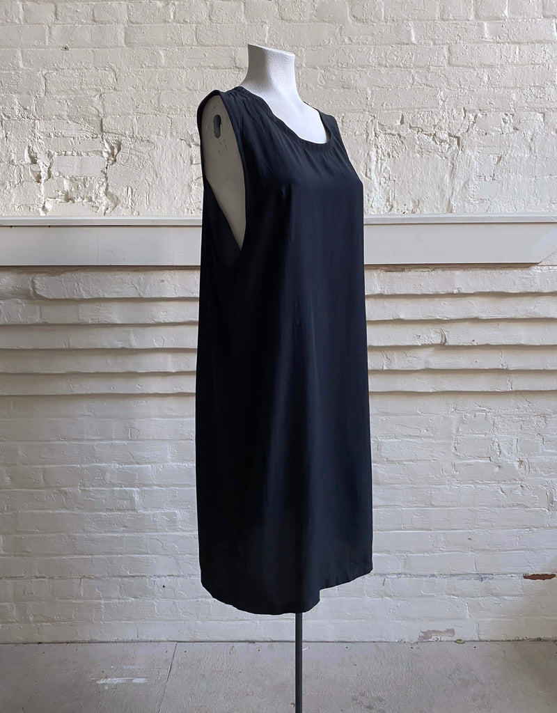 Silk Column Shift Dress