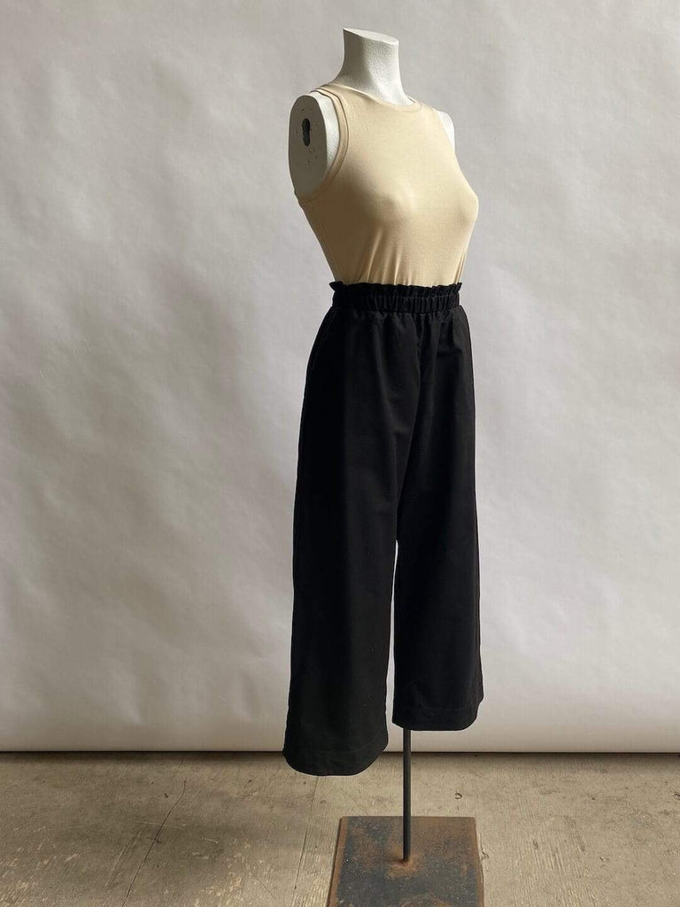 Wide Leg Cotton Trouser