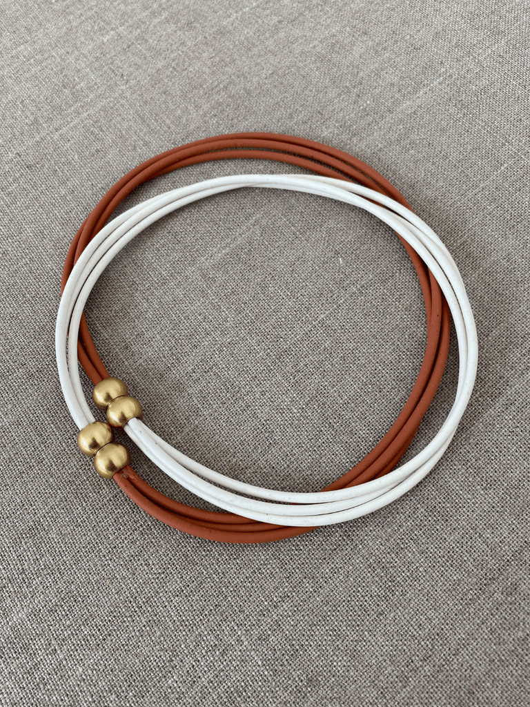 Intermix Strand Necklace in Clay + White