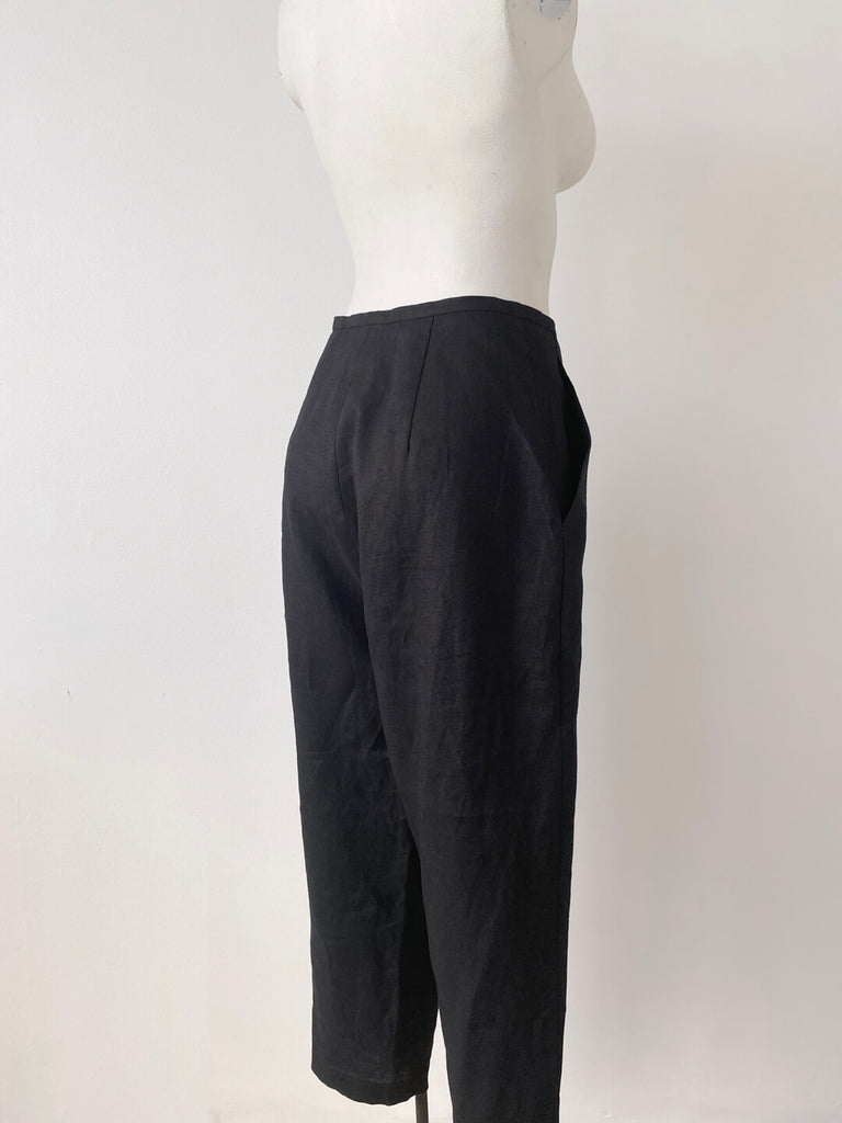 Pleated Cotton Trousers - Kohl