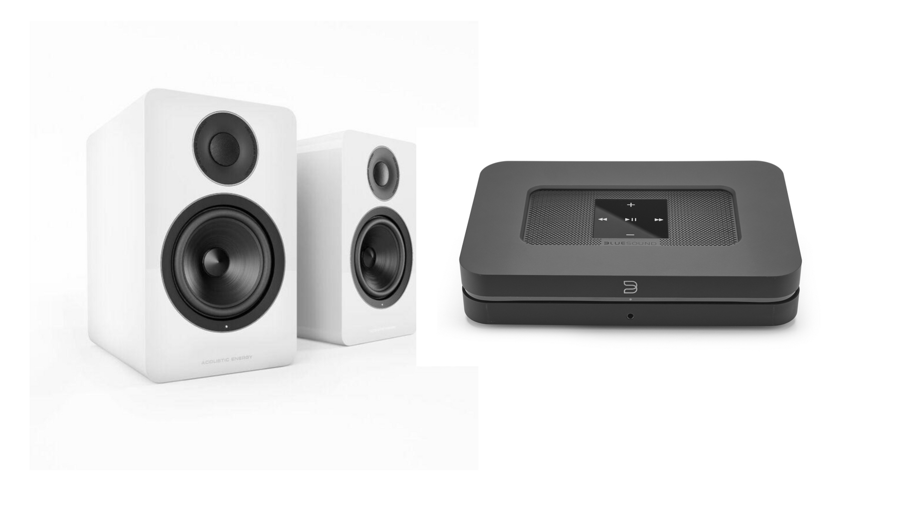 Bluesound Node 2i with Acoustic Energy AE1 active speakers