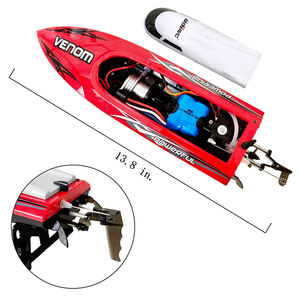 Remote-Control-Boat!! 2.4GHz 35km/h Fast!! 200m Control Distance!13.8in large size