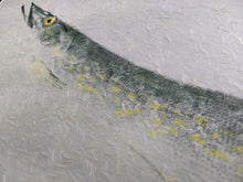 Load image into Gallery viewer, Northern Pike Original Gyotaku. 28x22