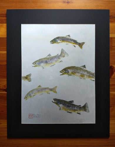 Brown Trout Original Gyotaku. Professionally Framed and to hang.