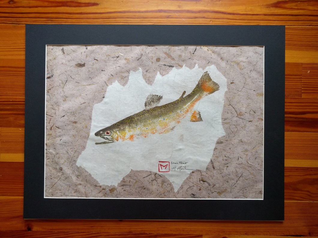 Brook trout gyotaku
