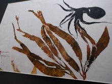 Load image into Gallery viewer, Octopus and Kelp Original Gyotaku