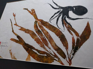 Octopus and Kelp Original Gyotaku