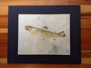 Brook Trout Original Gyotaku