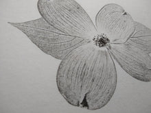 Load image into Gallery viewer, Original hand-printed dogwood bloom.