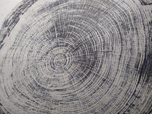 Load image into Gallery viewer, Original Woodcut Tree Ring Print on Chiri Rice Paper (24x30)