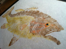 Load image into Gallery viewer, Smallmouth Bass Original Gyotaku