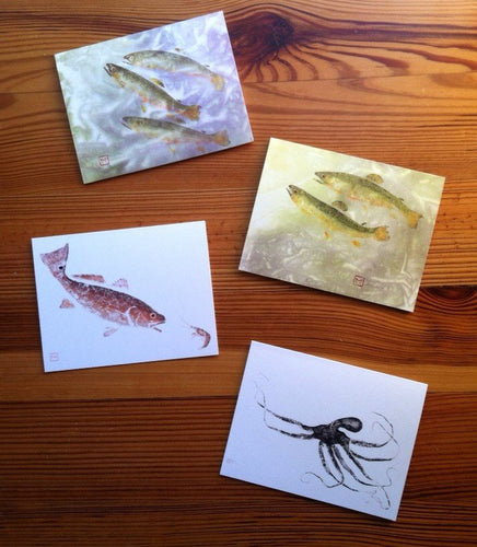 Gyotaku Note Cards  (Set of 10)