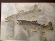 Load image into Gallery viewer, Brown Trout Original Gyotaku
