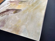 Load image into Gallery viewer, Spawning Kokanee (Sockeye) Original Gyotaku.