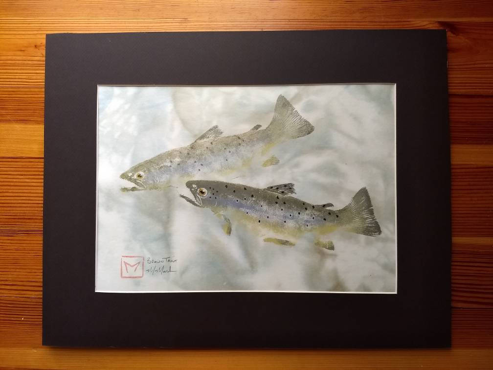 Brown Trout Original Gyotaku