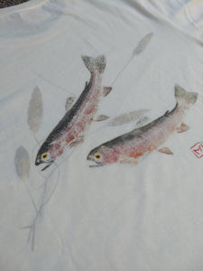 Rainbow Trout Gyotaku T-Shirt--Beautiful, Unique, Comfortable!