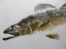 Load image into Gallery viewer, Walleye Original  Gyotaku 36x30